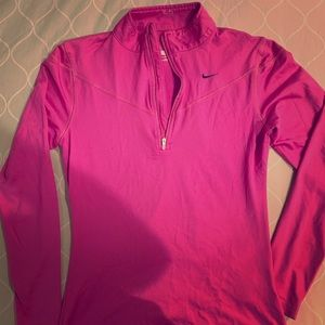 Pink Nike FITDRY Pullover